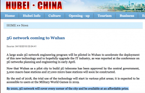 Nep-epidemie 5G speerpunt Wuhan
