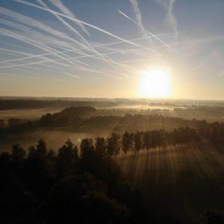 Drone opname luchtruim op 5 oktober 2018: om 8:15 uur
