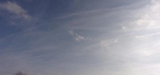 Chemtrails boven Driebergen februari 2020