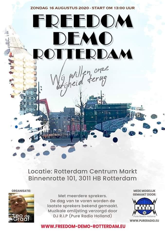 Freedom demo Rotterdam