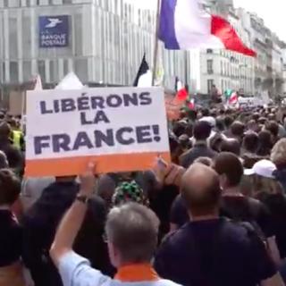 Demonstratie voor vrijheid Parijs 17 juli 2021