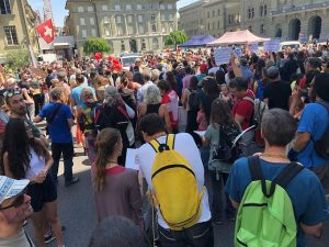 protesten 9 mei 2020 zwitserland