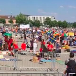 Protest Stuttgart 16 mei 2020