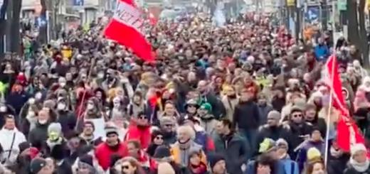 Demonstratie 31 januari 2020 in Wenen tegen de lockdown-maatregelen