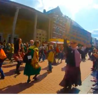 Dansen flashmob in Nijmegen
