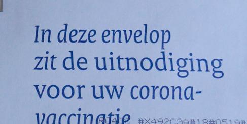 vaalblauwe envelop coronavaccin