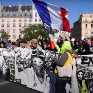 Demonstratie tegen coronapas Parijs 16 oktober 2021