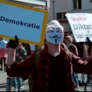 protst tegen lockdown in Berlijn