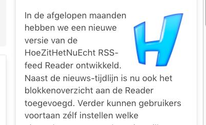HoeZitHetNuEcht RSS-reader