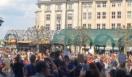 Demonstraties in heel Duitsland op 9 mei 2020