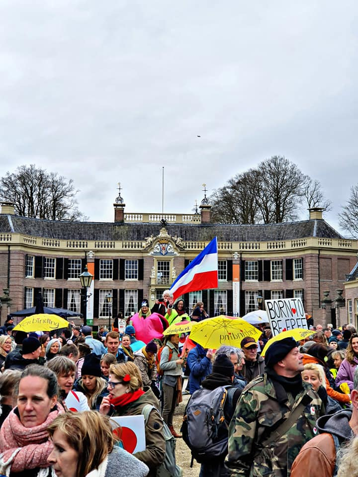 Demo Pilice for Freedom in Baarn